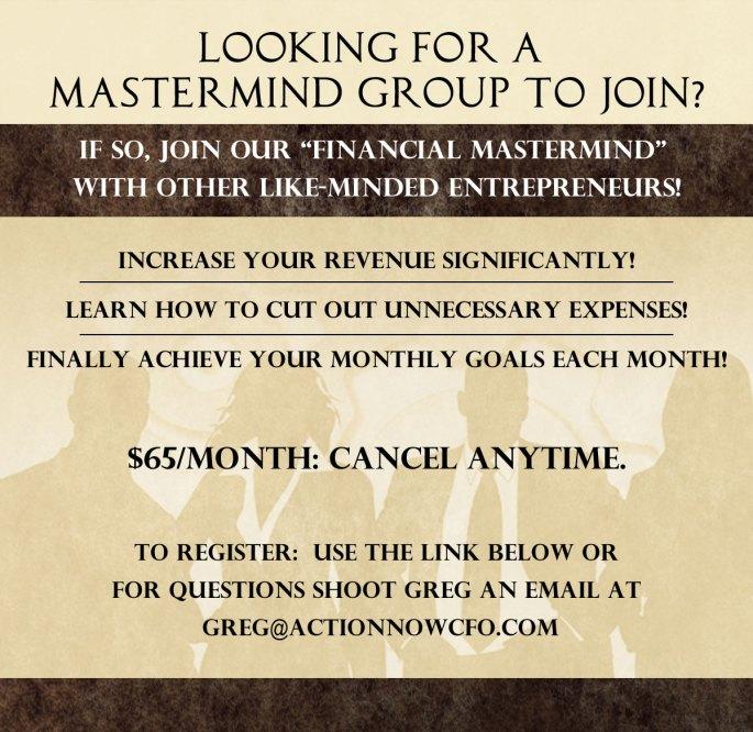 Entrepreneur Mastermind Group 65 per month